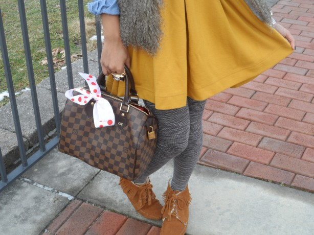 wearing-h&m-mustard-skater-dress-j.crew-factory-faux-fur-vest-minnetonkas-louis-vuitton-speedy-25-channing-hargrove-blog-channing-in-the-city-4